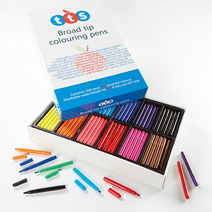 TTS Fibre Tipped Assorted Colouring Pens 300pk  large