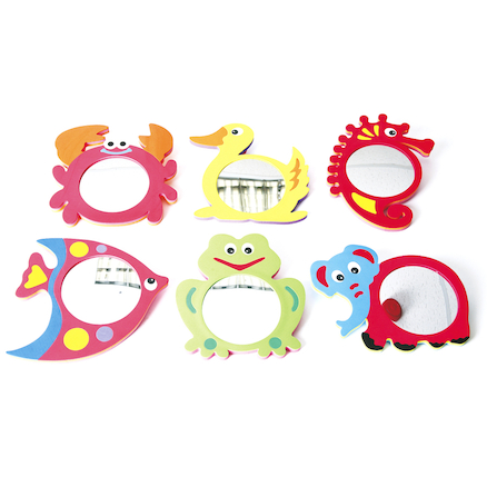 Foam Animal Frame Mirrors 6pk  large