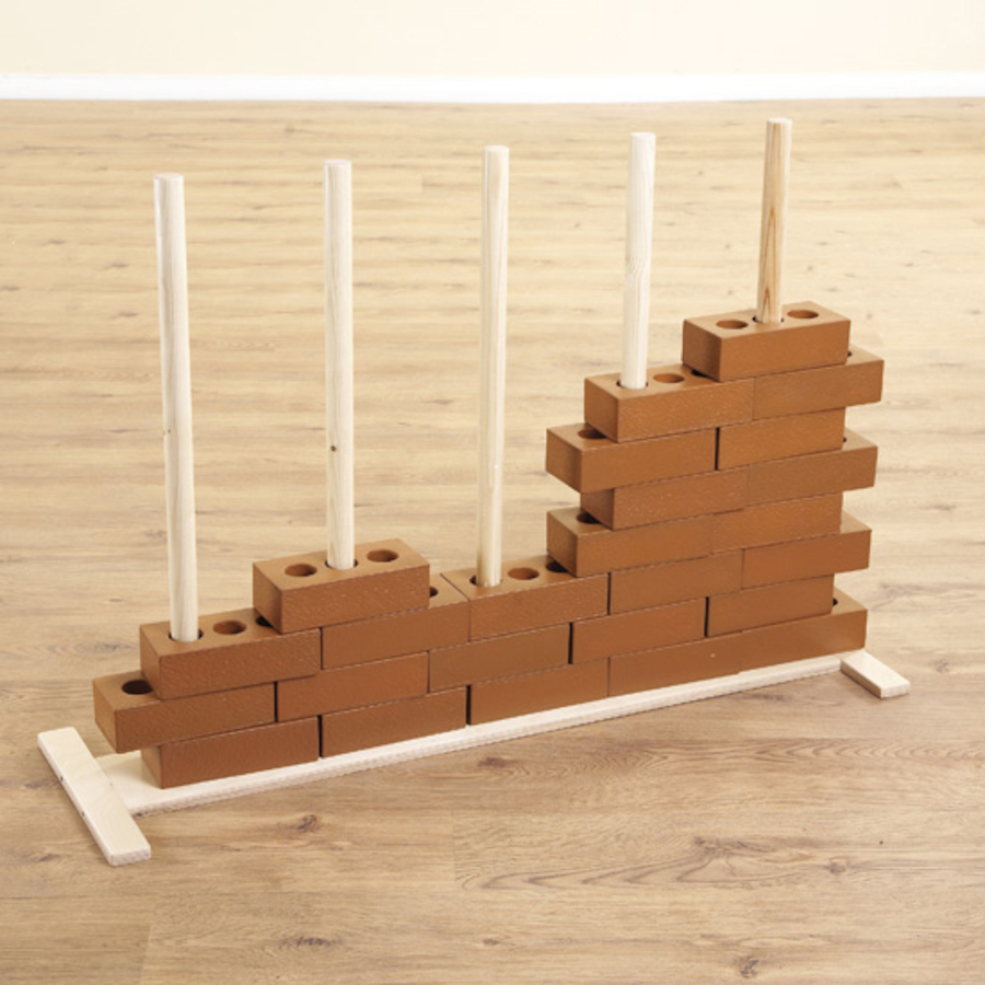 Buy wooden construction role play brick stand tts for Construction stand