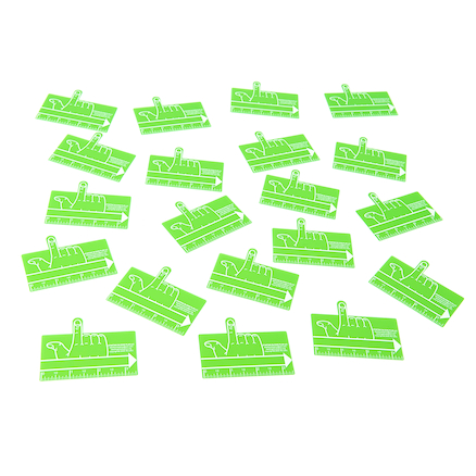 Handwriting Transparent One Finger Spacer  large