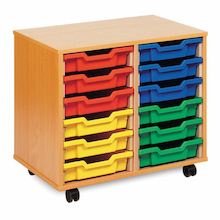 Mobile Tray Storage Unit With 12 Shallow Trays  medium