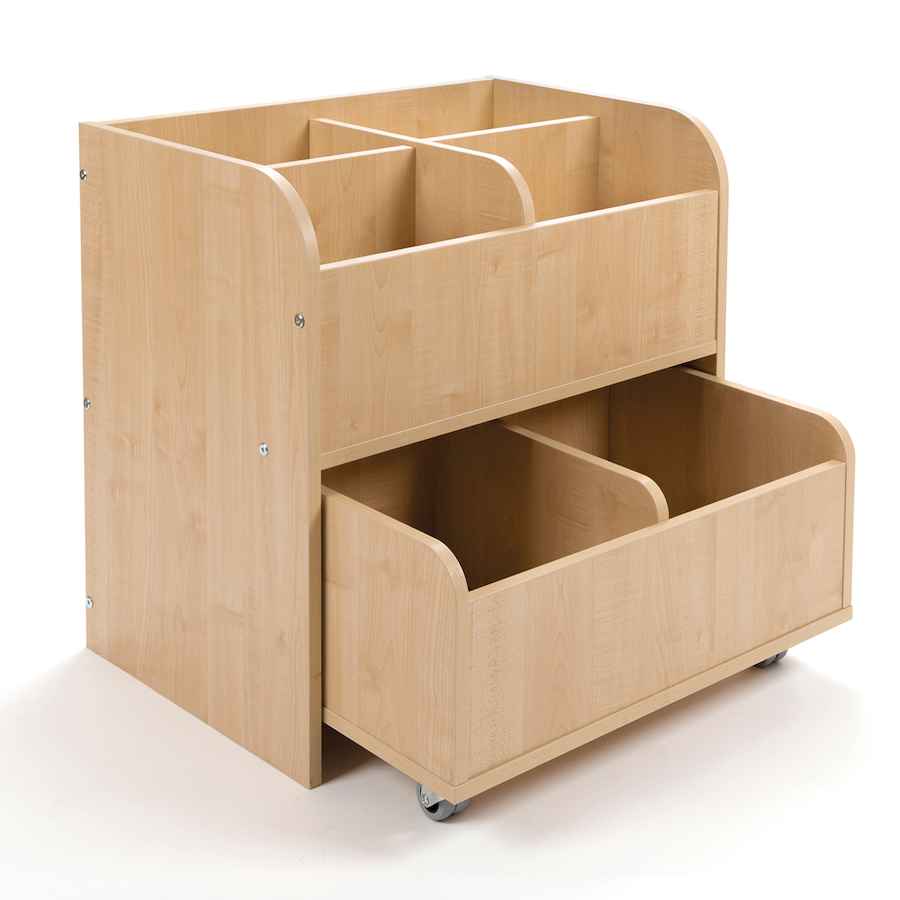 Buy Book Storage Unit With Trolley Tts