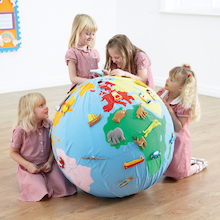 Giant Soft World Globe KS1  medium