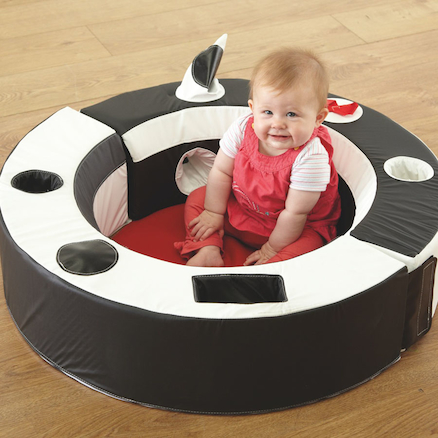 Black and White Padded Wipe Clean Baby Playring  large