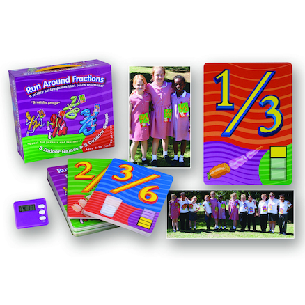 Run Around Fractions Play Cards Set 100pk  large