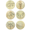 Engraved Outdoor Wooden Button Stool  small