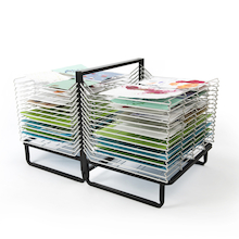 30 Shelf Spring Loaded Drying Rack  medium