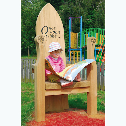 Outdoor Wooden Storytellers Chair  large