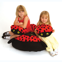 Ladybird Cushion and 15 Baby Ladybird Cushions  medium