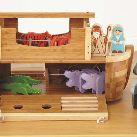 Small World Noahs Ark Bamboo Playset  large