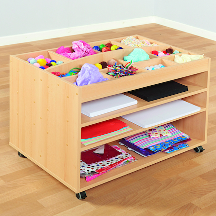 Wooden Art and Collage Storage Trolley  large
