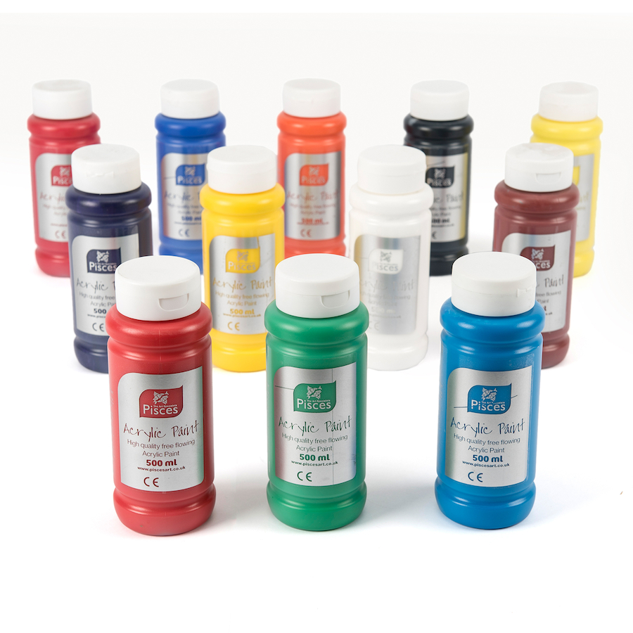 buy pisces acrylic paint 500ml 12pk tts