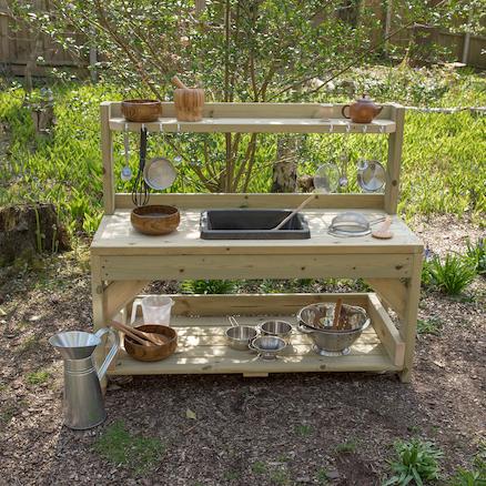 Buy outdoor messy play wooden mud kitchen tts for Gartendeko sale