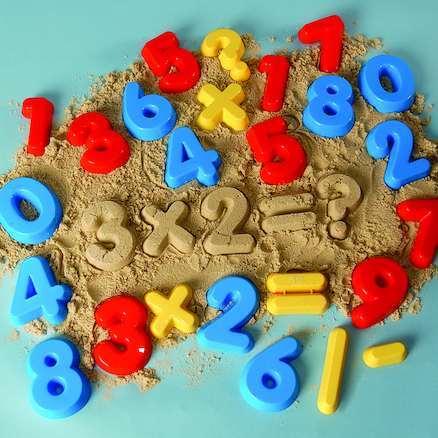 Multi Coloured Numbers and Symbols Moulds  large