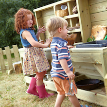 Outdoor Wooden Messy Play Station  medium