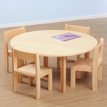 Beech Veneer Round Classroom Table  large