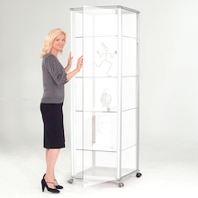 Glass Tower Display Cases  medium