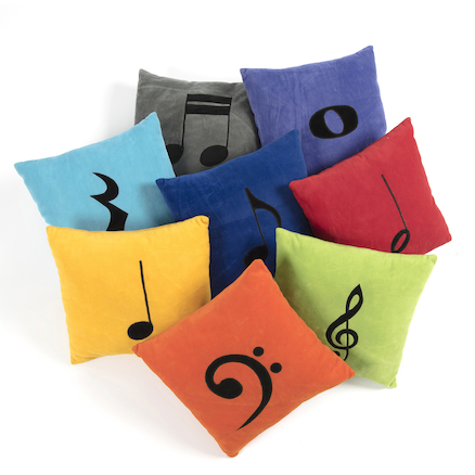 Coloured Music Note Cushions 8pk  large