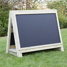 Toddler's Outdoor Chalkboard Wooden Floor Easel  medium