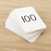 Wipe Clean 0 - 100 Playing Cards  small