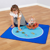 Small World Landscape Colourful Spots Play Mat 4pk  small