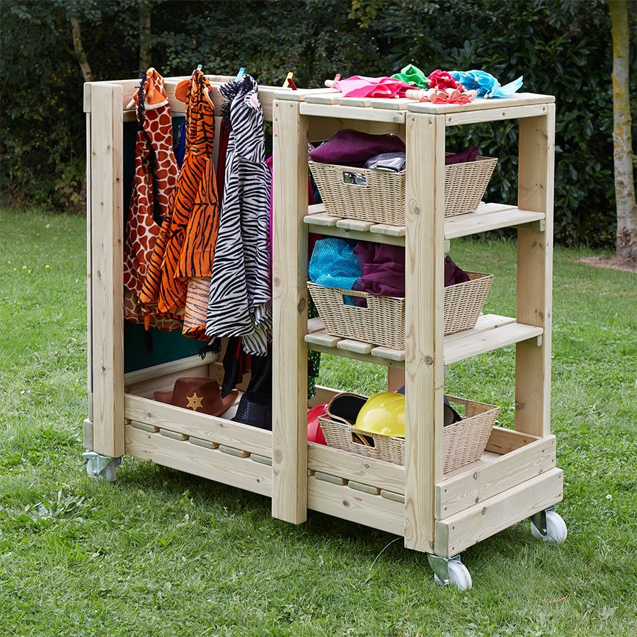 Buy wooden outdoor role play dress up storage unit tts for Play unit
