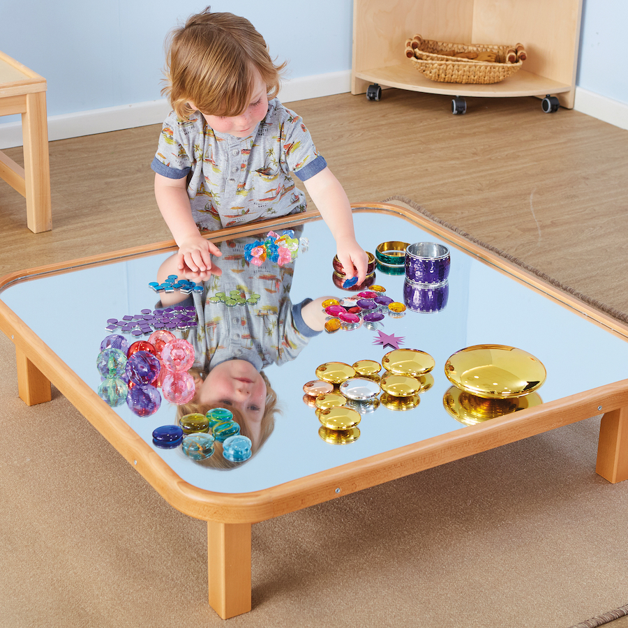 Buy Mirrored Wooden Creative Low Toddler Table Tts