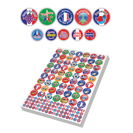 Assorted French Reward Stickers 3930pk  large
