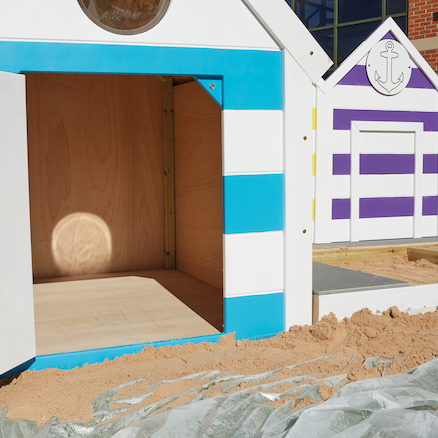 Seaside Village Sandpits and Beach Huts  large