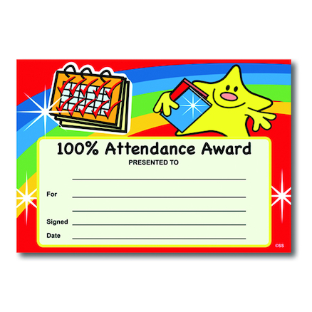 Attendance Certificates  large