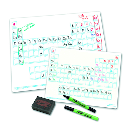 Periodic Tables A4 Drywipe Boards 10pk  large