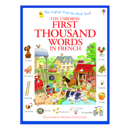 First Thousand Words In French Illustrated Book  large