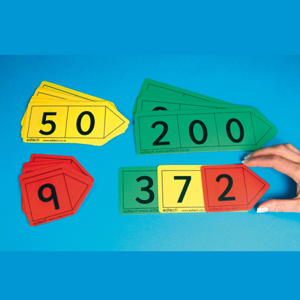 Colourful Hundreds Place Value Arrows  large