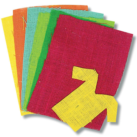 Coloured Hessian Sheets 6pk  large
