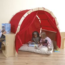 Wooden Framed Playtent with Storage  medium