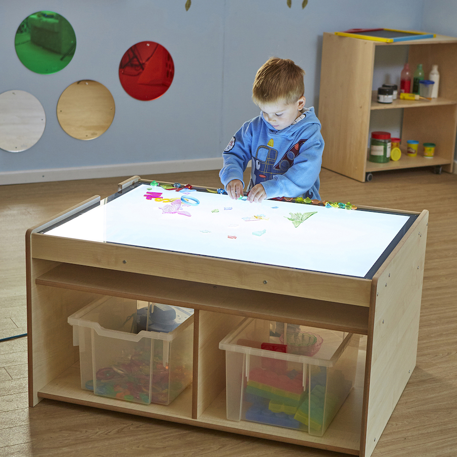 Buy Light Panel Table With Storage Tts