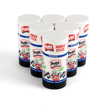 Jumbo Pritt Glue Stick 90g 6pk  medium