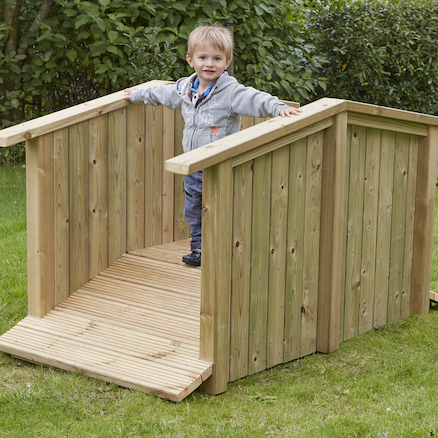 Outdoor Wooden Toddler Bridge  large