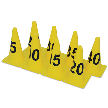 Distance Marking Number Cones 8pk  large