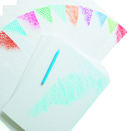 A4 White Embossed Card Assorted 50pk  large