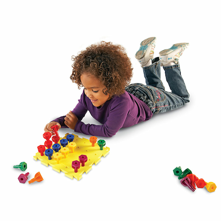 Fine Motor Stacking and Lacing Peg and Board  large