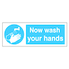 Self Adhesive Now Wash Your Hands Sign  small