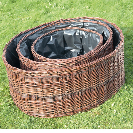 Circular Willow Planters 3pk  large