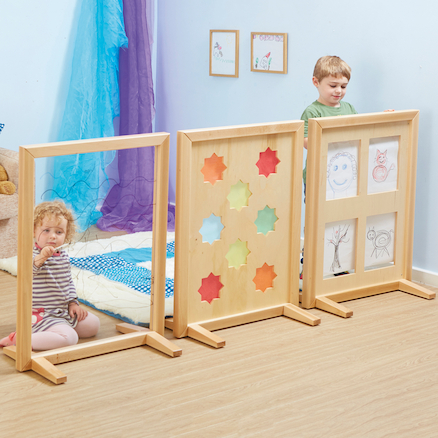 Wooden Activity Screen Room Dividers 3pk  large