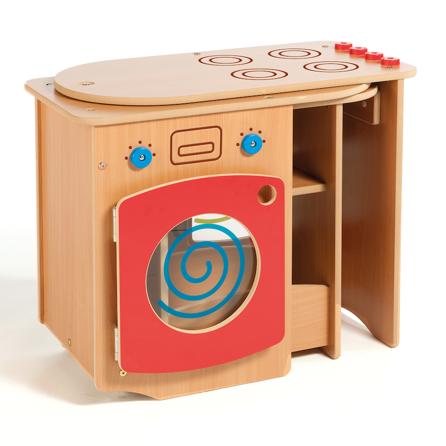 buy wooden pack away toddler role play kitchen | tts