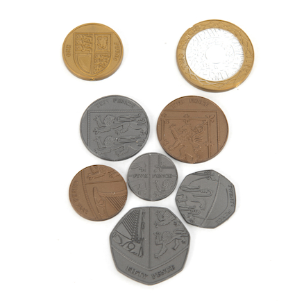 Plastic Play Money Coins  large