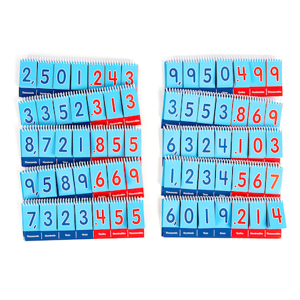 Decimal Practice Flip Boards 10pk  large