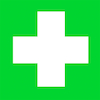 Self Adhesive Green First Aid Sign  small