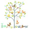 Woodland Fox and Friends Wall Sticker Decoration  small