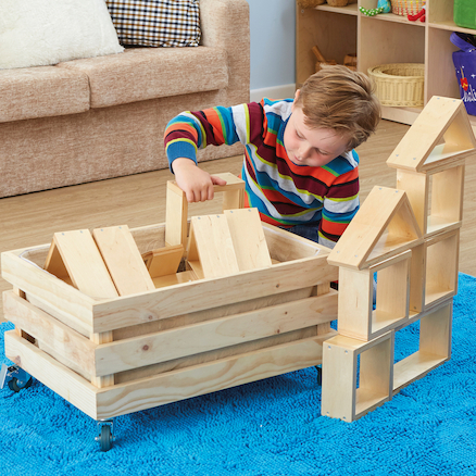 Wooden Indoor Wheely Crate  large